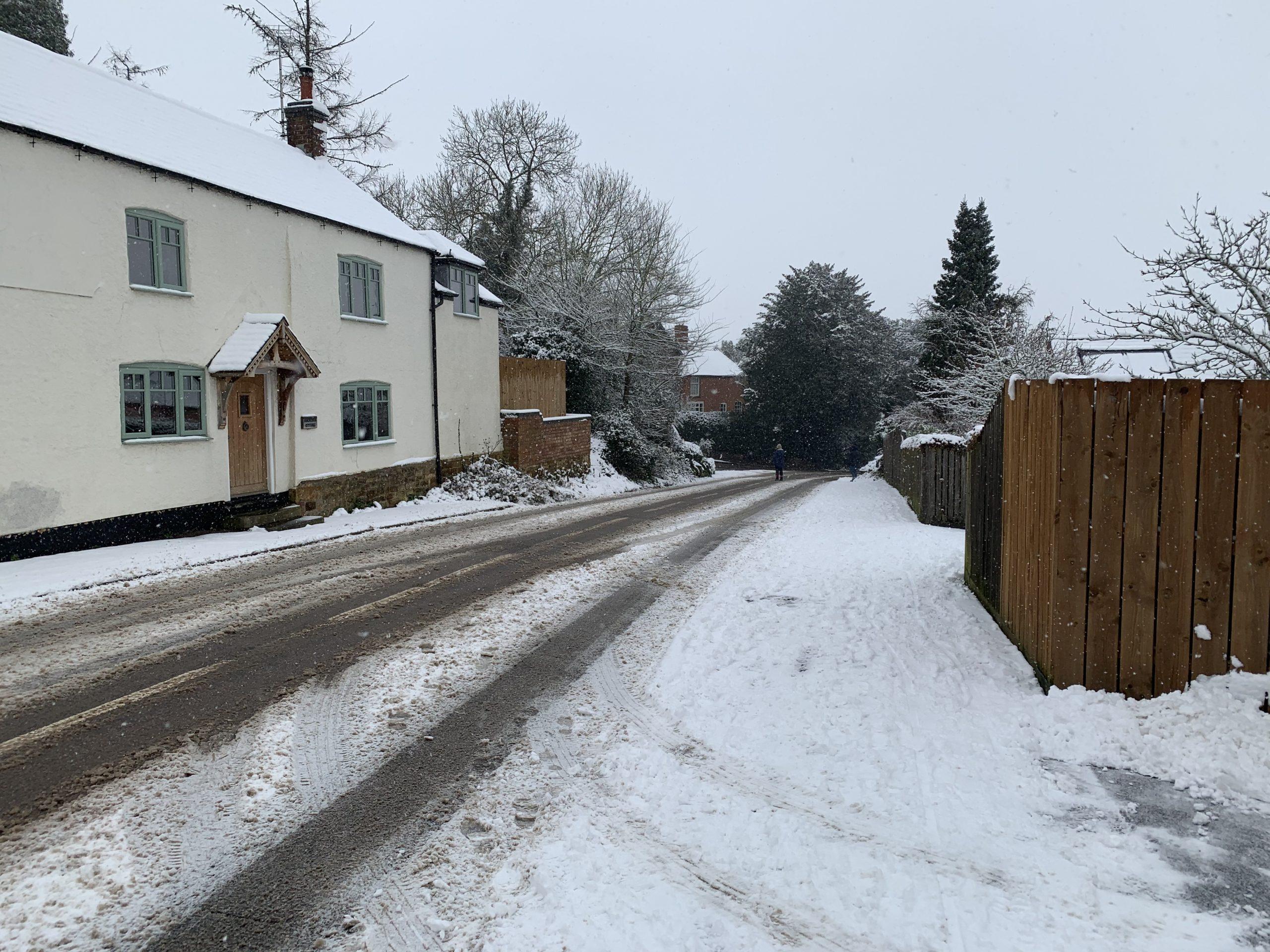 Snow on Main Street - Jan 2021
