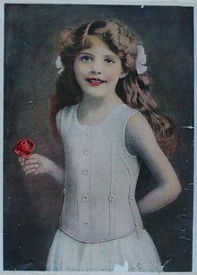 1900 - Liberty Bodice Advert with Freda Cox