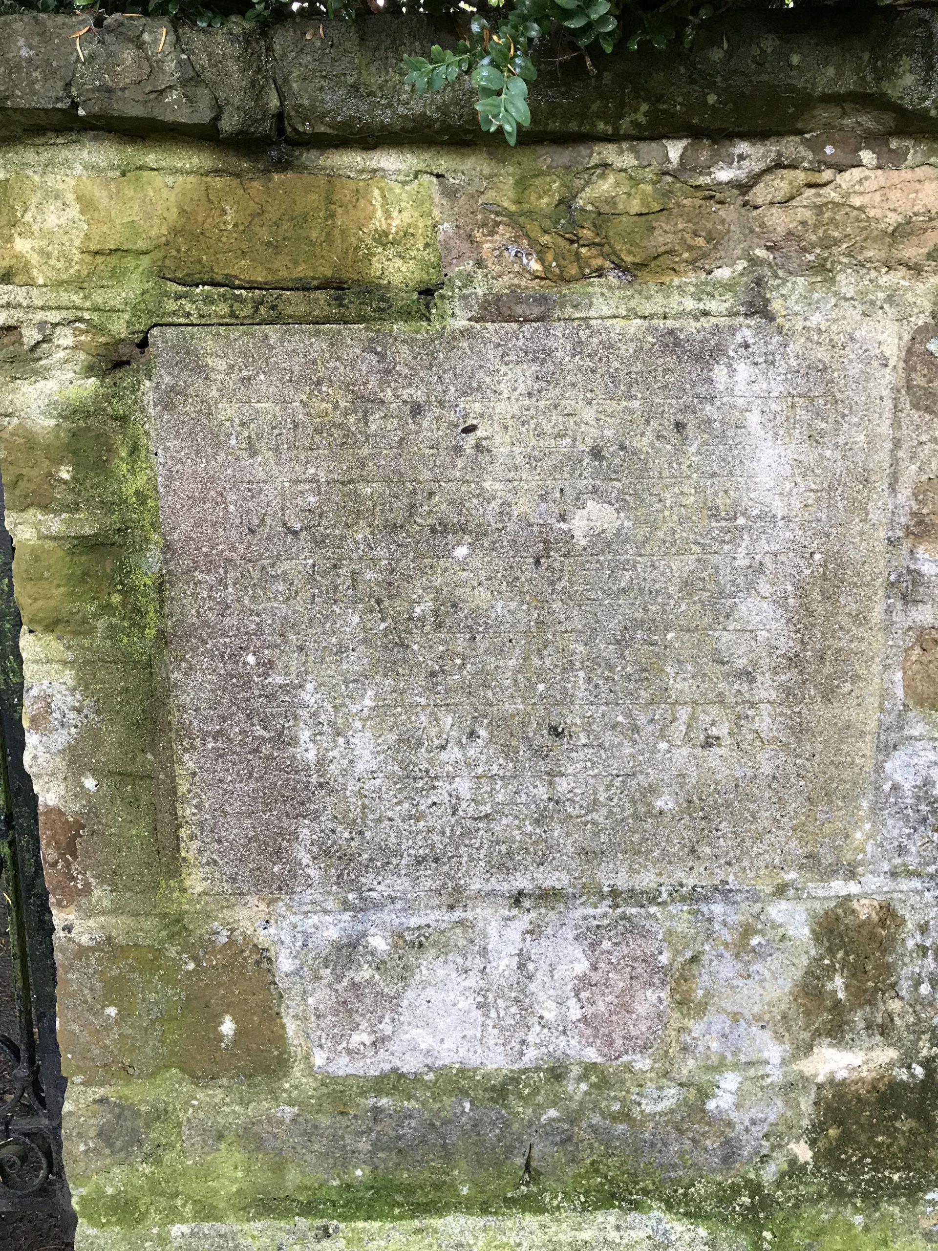 East Farndon WW2 Commemorative Plaque