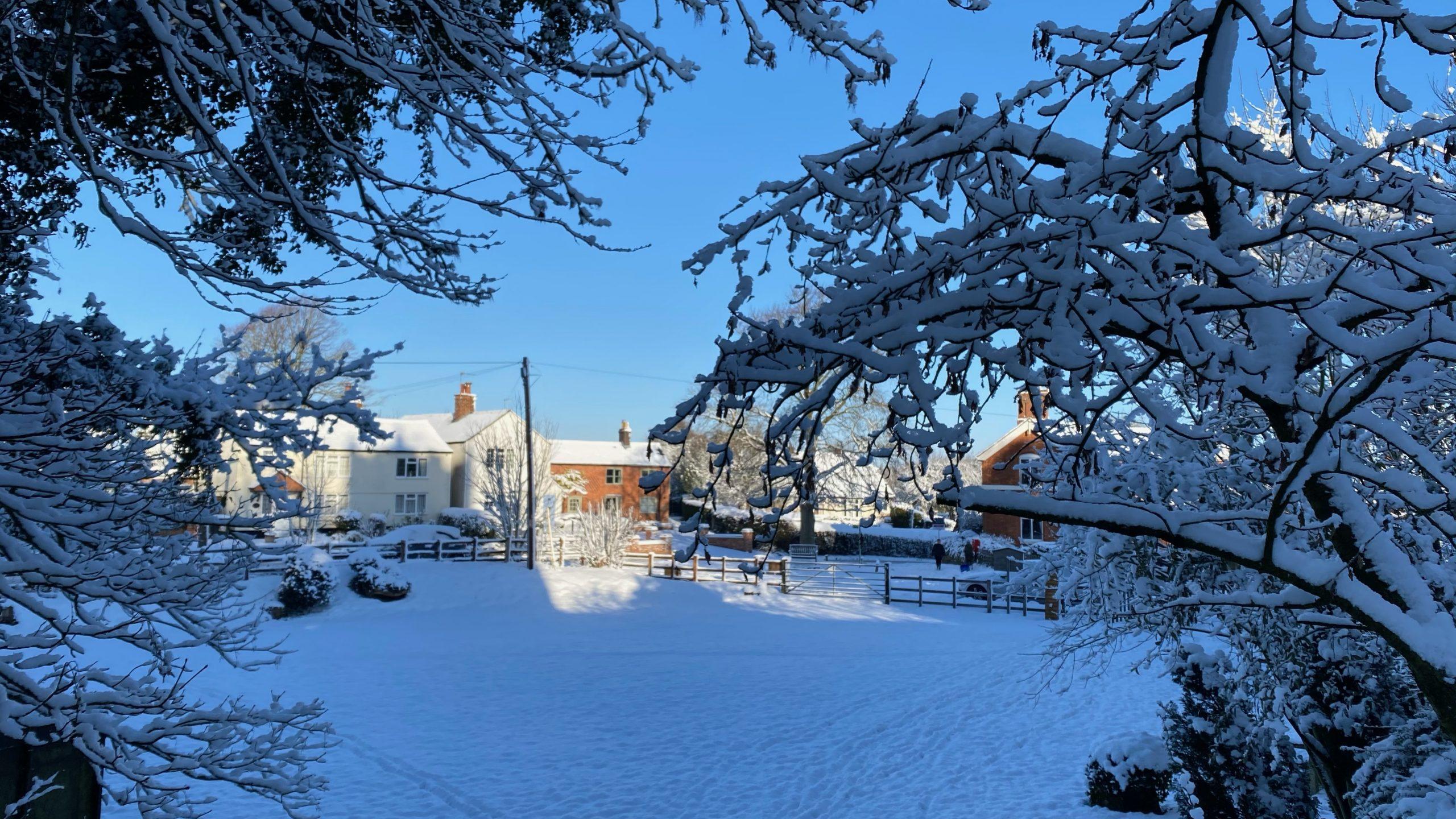 Marriott Green & Main Street in the Snow