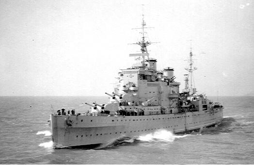 Mick Belton - HMS London At Sea - WW2