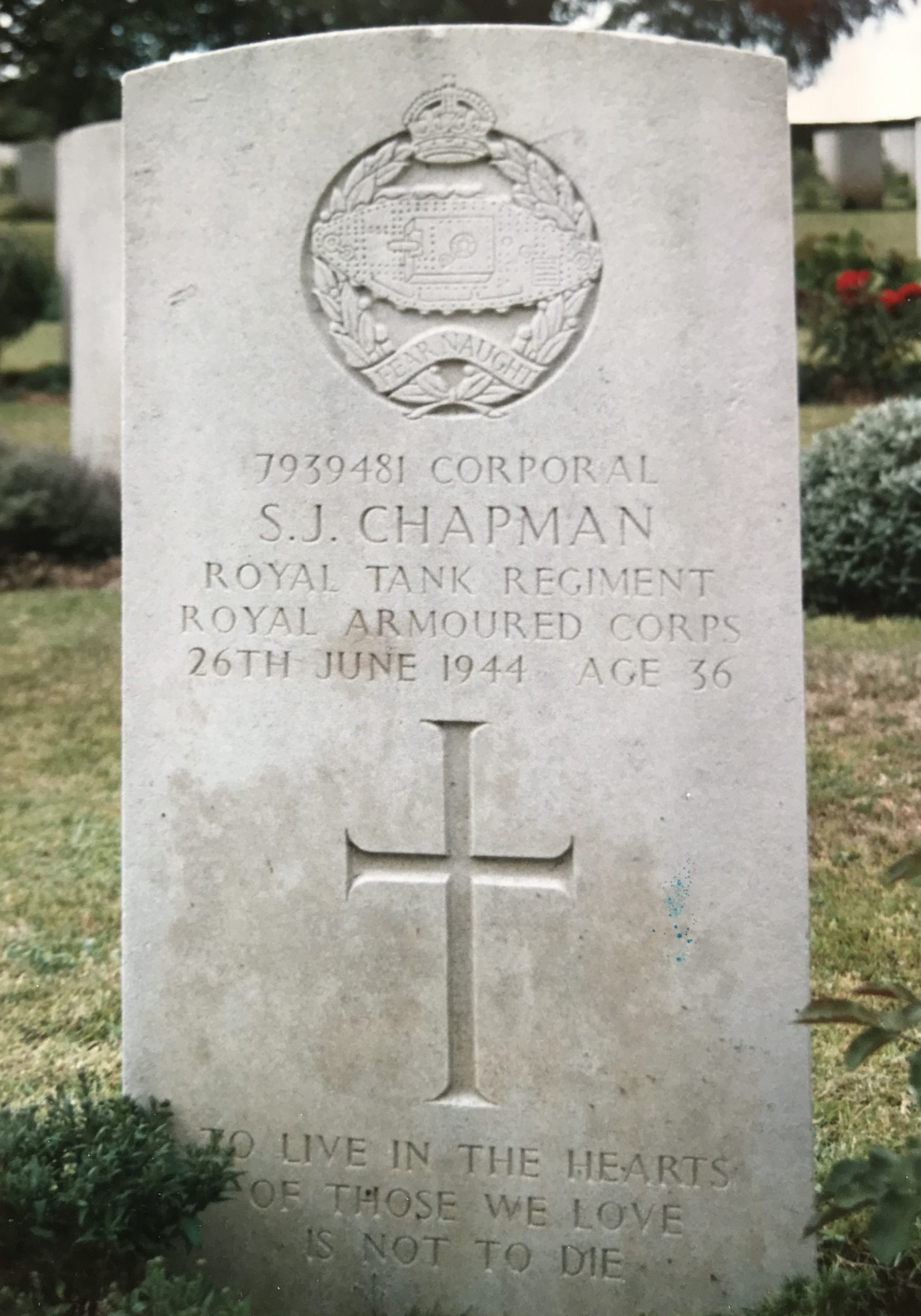 Sydney Chapman Gravestone - WW2