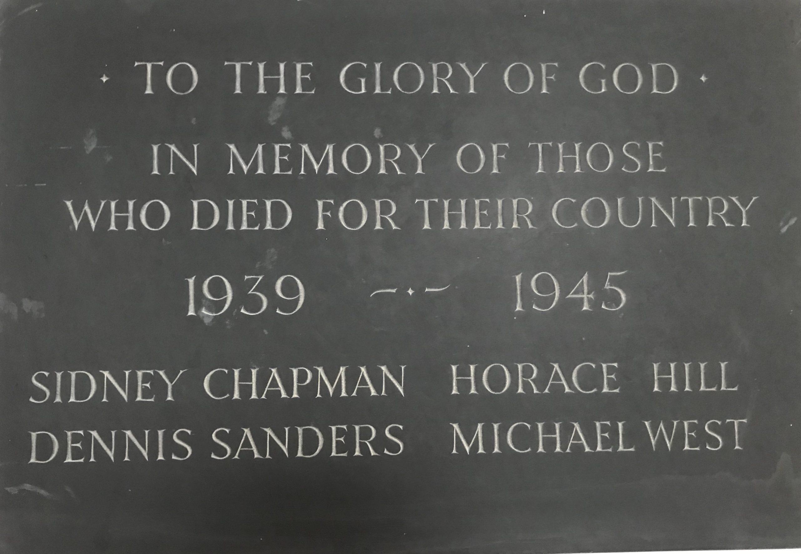 War Memorial World War Two Plaque