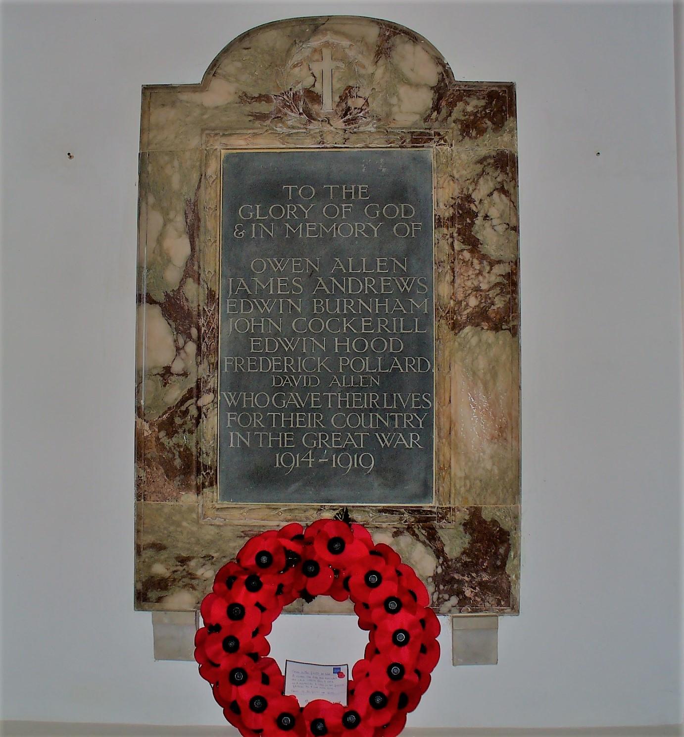 World War One War Memorial